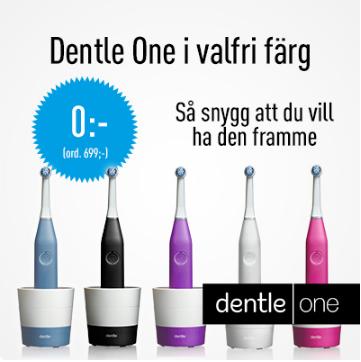 Designad eltandborste för 0:- från Dentle One prenumeration