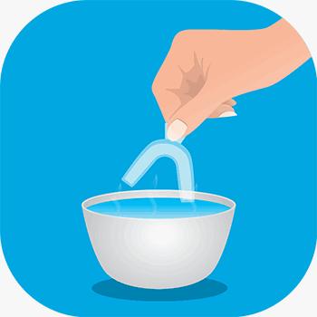 Tanblekning hemma Process 1
