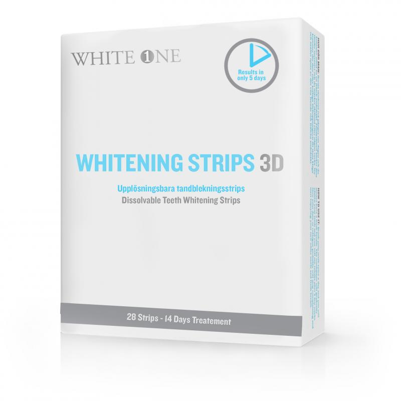 White One 3D white strips med rabatt.