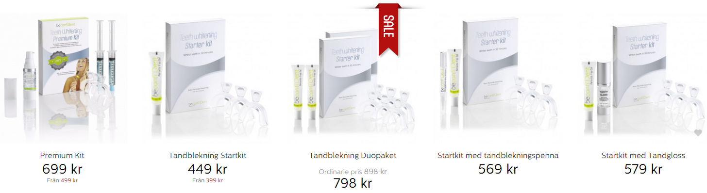 Beställ Beconfident® tandblekning enkelt online