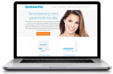 Dentaworks tandblekning via Dentaworks webbplats