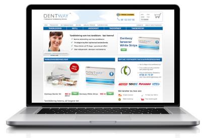 Dentway™ tandblekning via deras webbplats