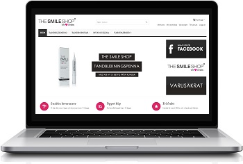 The Smile Shop tandblekning via The Smile Shop webbplats